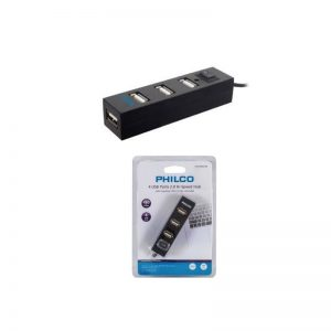 Mini Hub Usb 4 Puertos Philco