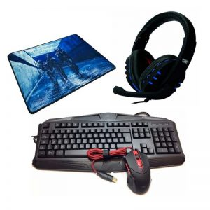 Kit 3 Gamer GTC - Teclado, Mouse, Mouse Pad y Headset