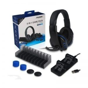Kit Gamer Dobe 5 En 1 Para Ps4